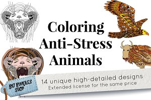 Coloring Anti-Stress animals
