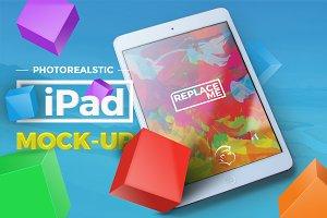 4 Photorealistic iPad Mock-up
