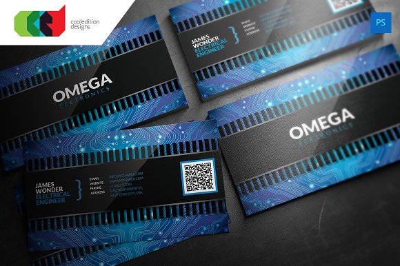 Chipset business card business card templates creative market colourmoves