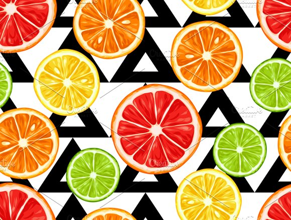 Patterns With Citrus Fruits Slices