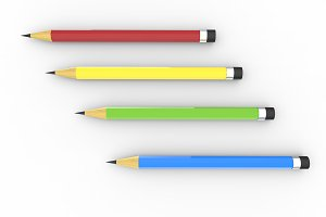 illustration of colorful pencil