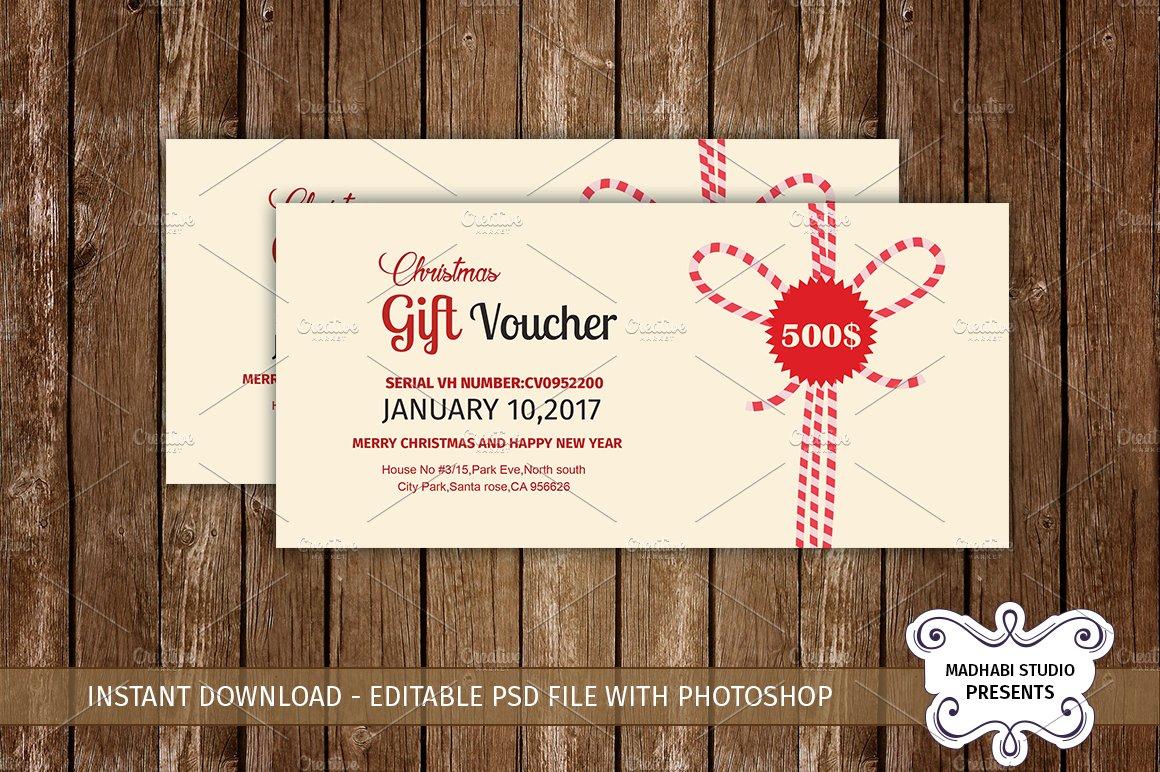 Multipurpose gift voucher template card templates for Hotel voucher design