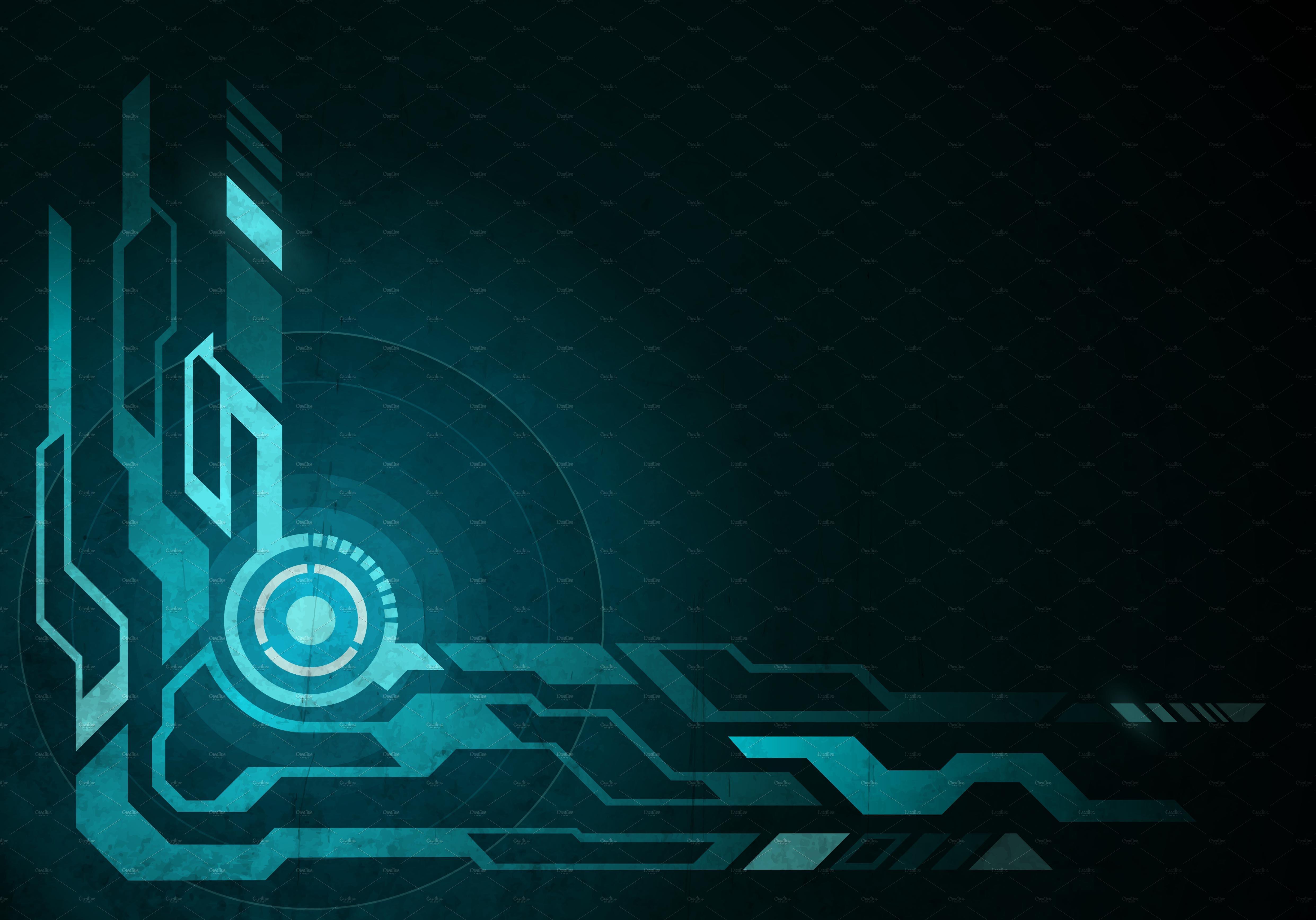Creative Graphics Design Background: Techno Background