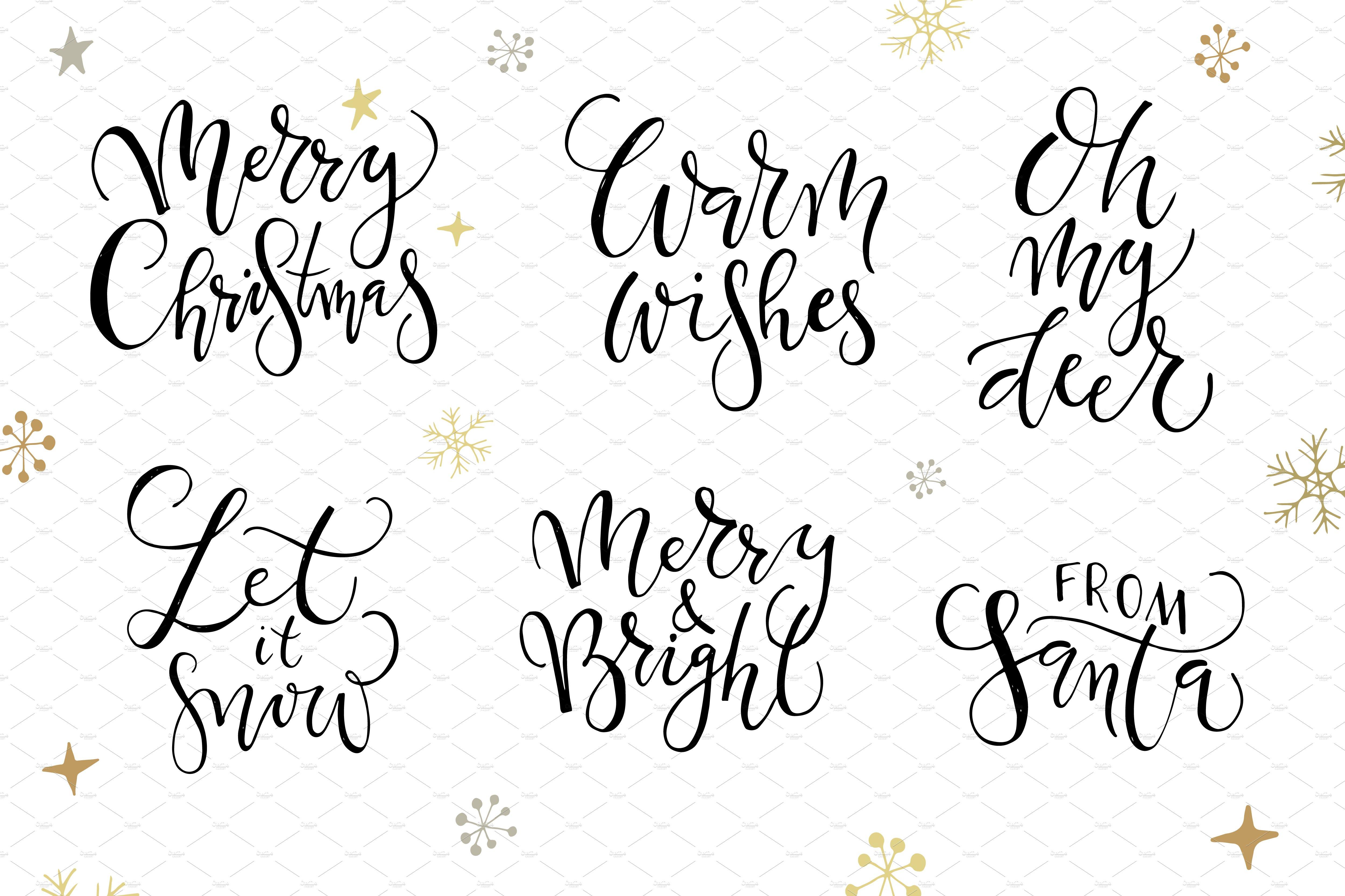 merry christmas calligraphy set templates creative market