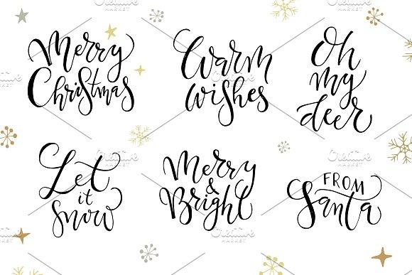Merry Christmas Calligraphy Set ~ Templates ~ Creative Market