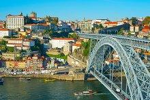 Porto & famous Dom Luis bridge view