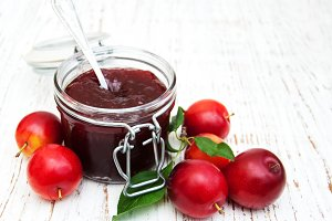 Jam with plums