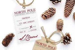 Santa Claus Holiday Gift Tags