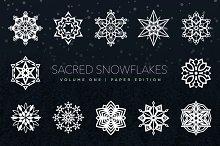 Sacred Snowflakes Vector Set Vol. 1