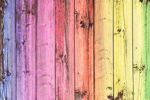 Rainbow Wood Background Vintage