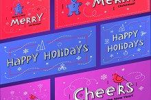 New Year social media banner set