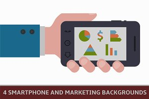 smartphone and marketing backgrounds