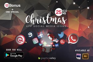 25+ Christmas Icons Pack