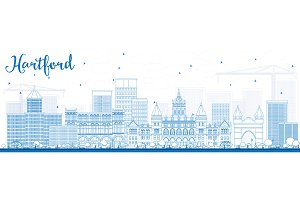 Outline Hartford Skyline
