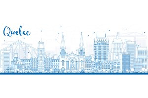 Outline Quebec Skyline