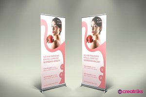 Health Care Roll Up Banner