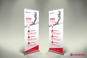 Charity Roll Up Banner