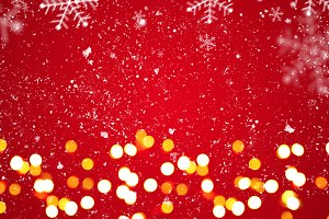 Red festive Christmas background