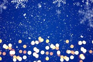 Blue festive Christmas background