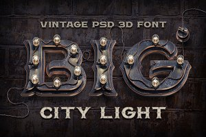 BIG City Light font