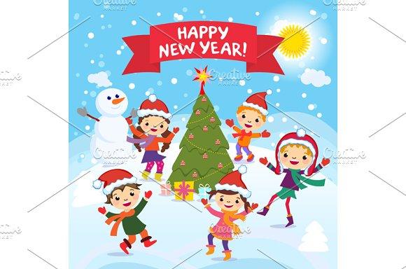 Happy New Year. 2017. Winter fun. - Graphics