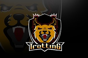 sport logo trotting club