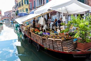 Floating market in Venice