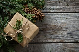 Christmas presents in decorative boxes