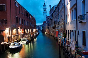 Venice canal early in the morning