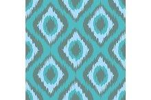 seamless pattern Tribal Art Ikat