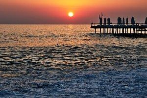 Sunset in Alanya