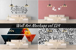 Wall Mockup - Sticker Mockup Vol 124