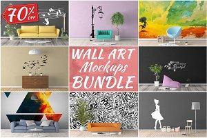 Wall Art Mockups BUNDLE V5
