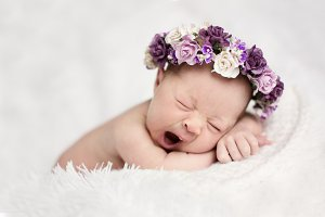newborn yawns