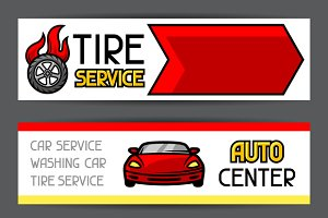 Car repair banners.