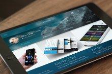 iOS Tablet Flat Pad UI Set Vol. 2