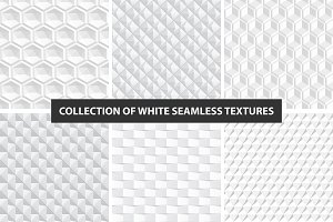 Decorative white seamless textures