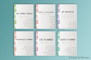 """Life Planner 7""""x9"""" Printable"""