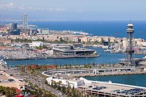 Barcelona Seaside Cityscape