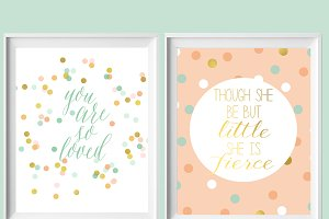 Mint, Coral, Gold 8x10 Printables