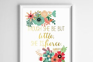She is Fierce 8x10 Printable