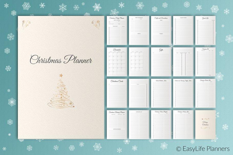 Christmas Planner Printables Letter Size 2021 Christmas Planner Letter Size Pdf Creative Stationery Templates Creative Market