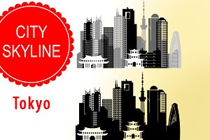 Tokyo vector skyline