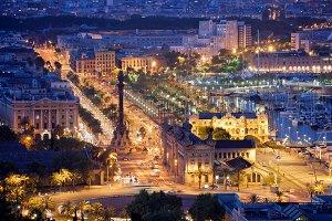 City of Barcelona by Night