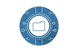 Web storage icon. Vector