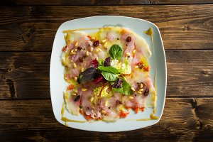 Delicious cod salad