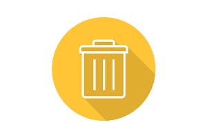 Trashcan icon. Vector