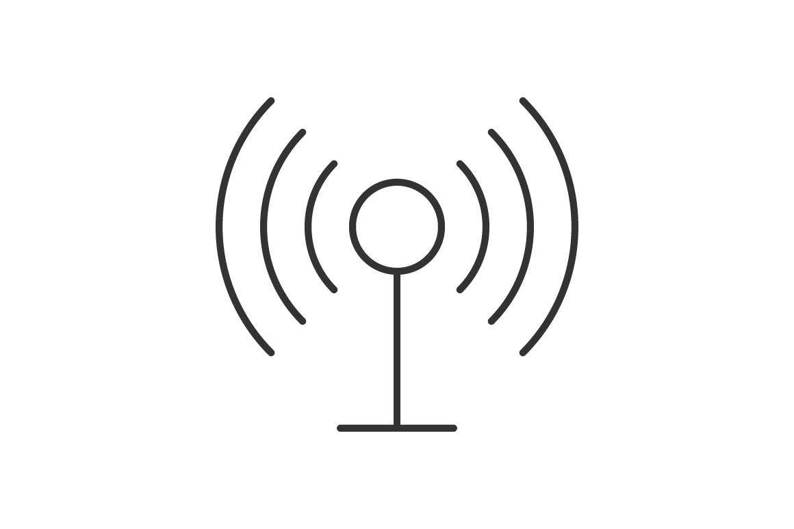 Radio antenna wireless icon ~ Icons ~ Creative Market