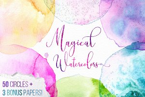 Magical Watercolor Mega Texture Pack