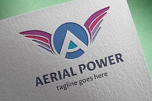 Aerial Power (Letter A) Logo